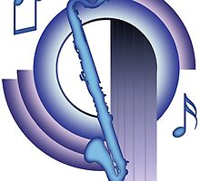 Deco Bass Clarinet (Cool Colors) by zenguin