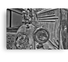 old mack truck hdr Canvas Print