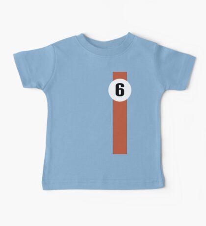Race Winning #6 blue and orange racing livery Baby Tee