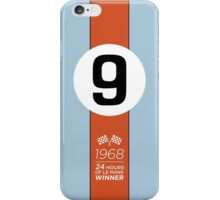 1968 24 Hours of Le Mans winning Ford GT40 #9 Gulf-Oil Racing livery iPhone Case/Skin