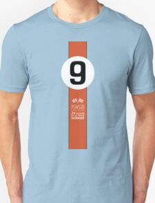1968 24 Hours of Le Mans winning Ford GT40 #9 Gulf-Oil Racing livery T-Shirt