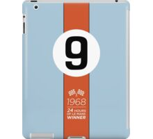 1968 24 Hours of Le Mans winning GT40 #9 Gulf-Oil Racing livery iPad Case/Skin