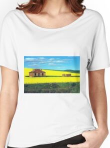 Derelict House in Canola Field Women's Relaxed Fit T-Shirt
