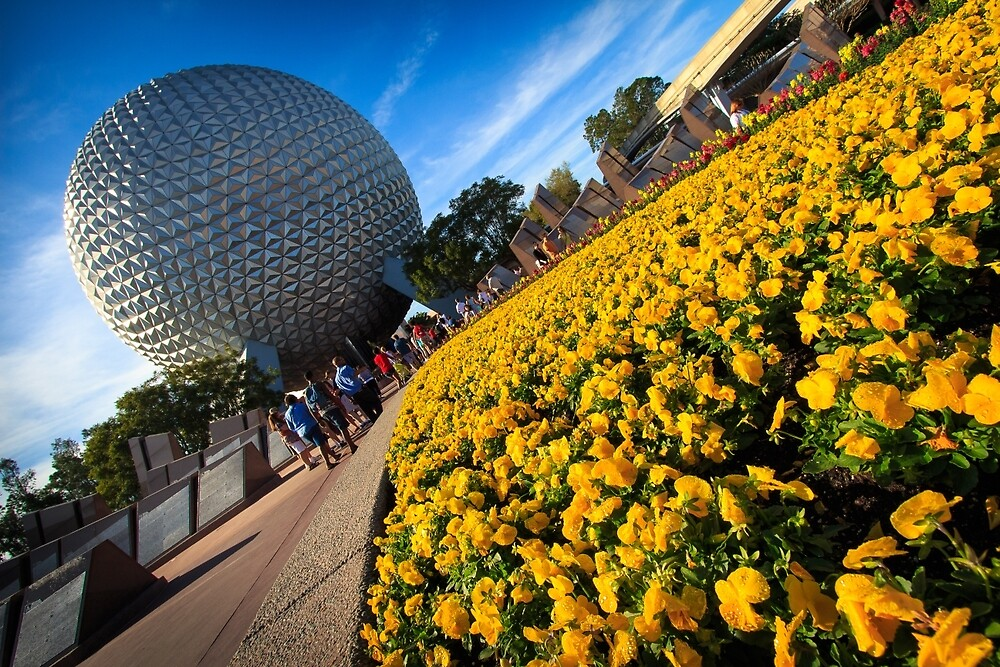 EPCOT Flower Bed by Scott Smith
