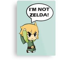 I'm Not Zelda Metal Print