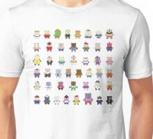 BEARS and FIGHTERS - STREET FIGHTER 4 CHARACTER SELECT Unisex T-Shirt