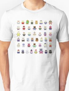 BEARS and FIGHTERS - STREET FIGHTER 4 CHARACTER SELECT T-Shirt