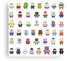 BEARS and FIGHTERS - STREET FIGHTER 4 CHARACTER SELECT Canvas Print
