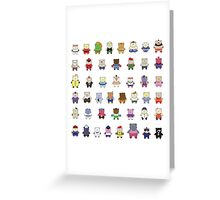 BEARS and FIGHTERS - STREET FIGHTER 4 CHARACTER SELECT Greeting Card