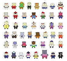 BEARS and FIGHTERS - STREET FIGHTER 4 CHARACTER SELECT Photographic Print