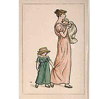 Kate Greenaway Almanack 1893 0022 June Mother and Children Photographic Print