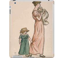 Kate Greenaway Almanack 1893 0022 June Mother and Children iPad Case/Skin