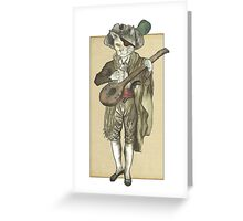 Pirate Cat Musician Greeting Card
