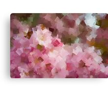 Floral geometric abstract Canvas Print