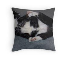 No tail so play with Paws Throw Pillow