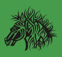 Tribal Horse Cool Vector T-Shirt and Stickers Kids Clothes