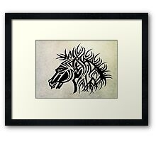 Tribal Horse Cool Vector T-Shirt and Stickers Framed Print