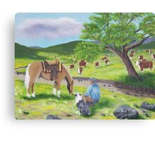 In God's Country ~ Western Landscape ~ Original Oil Painting Canvas Print