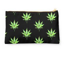 Love and Weed - Love and Pot - Weed leaf with green hearts Pouch Studio Pouch
