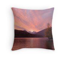 Glendhu Wetland Wildlife Reserve Sunset Throw Pillow