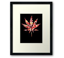 Love and Weed - Love and Pot - Weed leaf with hearts! :D Pouch Framed Print