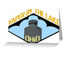 vape by the lake Greeting Card