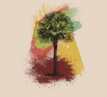Grunge Palm Tree T-Shirt - Art Prints - Stickers Notebooks by Denis Marsili - DDTK