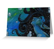 Bubbly Flow Greeting Card