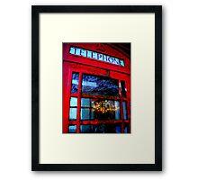 Telephone Box Sunset Framed Print