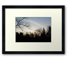 Streaks of Clouds in the dawn sky Framed Print