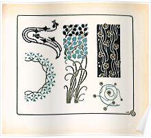 Maurice Verneuil Georges Auriol Alphonse Mucha Art Deco Nouveau Patterns Combinaisons Ornementalis 0009 Poster