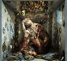 """Ecce Homo 91 """"SHALECHET falling leaves """" by Polygonist"""