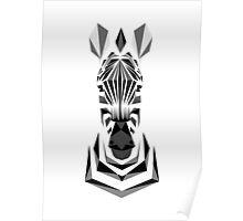 Geometric Zebra Design Poster