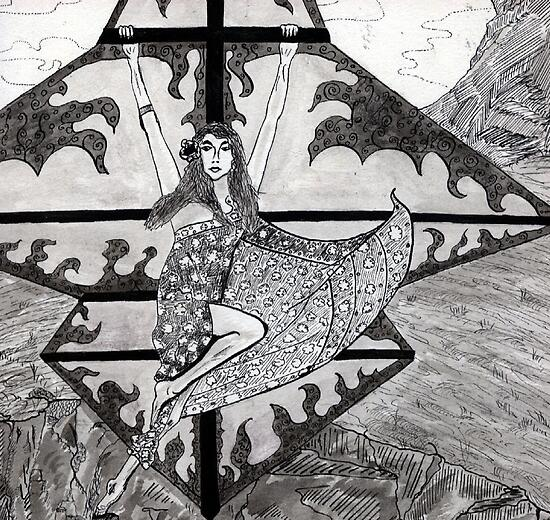32 - KATE BUSH - DAVE EDWARDS - INK - 1978 by BLYTHART