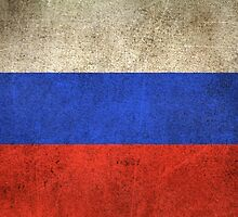 Old and Worn Distressed Vintage Flag of Russia by Jeff Bartels