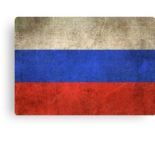 Old and Worn Distressed Vintage Flag of Russia Canvas Print