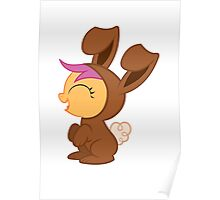 Scootaloo Bunny Suit (Brown) Poster