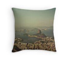 Rio de Janeiro vintage Throw Pillow