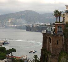 Mist on the Amalfi Coast Italy by Lucinda Walter