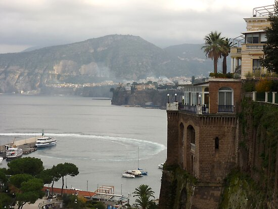 Mist on the Amalfi Coast Italy by Lucinda Walter