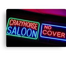 Crazy Horse Saloon Canvas Print