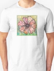 Red Poppy.Hand draw  ink and pen, Watercolor, on textured paper Unisex T-Shirt