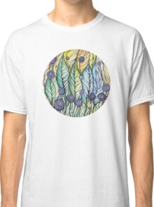 Dandelions.Hand draw  ink and pen, Watercolor, on textured paper Classic T-Shirt