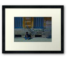 Accordion Boy Framed Print