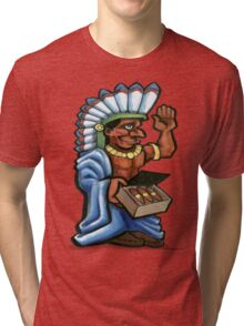 Cigar Injun Tri-blend T-Shirt
