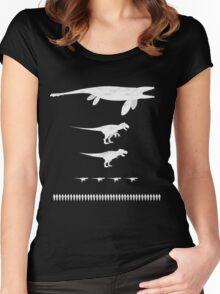 Jurassic World Food Chain light Women's Fitted Scoop T-Shirt