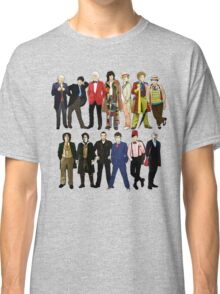 Doctor Who - Alternate Costumes 13 Doctors Classic T-Shirt