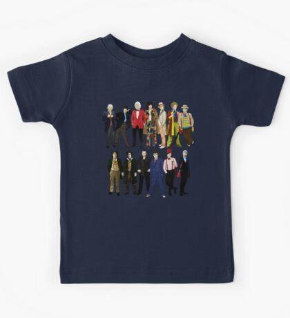 Doctor Who - Alternate Costumes 13 Doctors Kids Tee