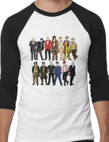 Doctor Who - Alternate Costumes 13 Doctors Men's Baseball ¾ T-Shirt