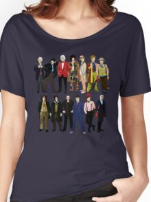 Doctor Who - Alternate Costumes 13 Doctors Women's Relaxed Fit T-Shirt